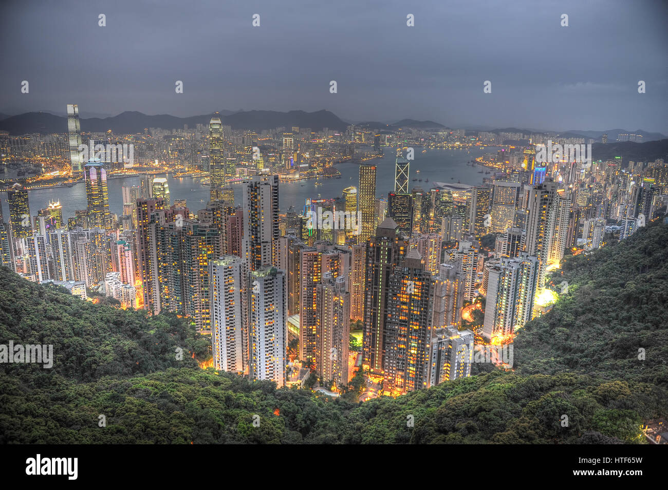 Hong Kong The PeakStock Photo