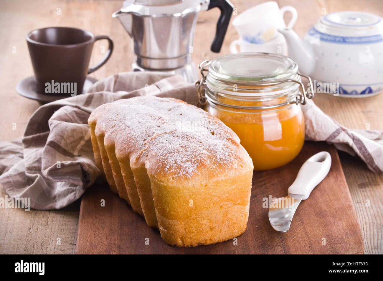 Sweet bread. - Stock Image