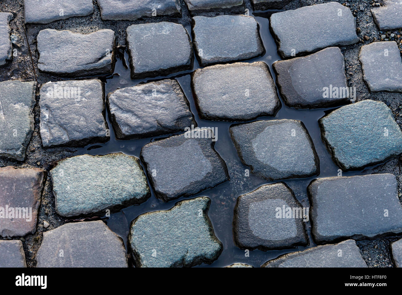 cobblestones in an old town - Stock Image