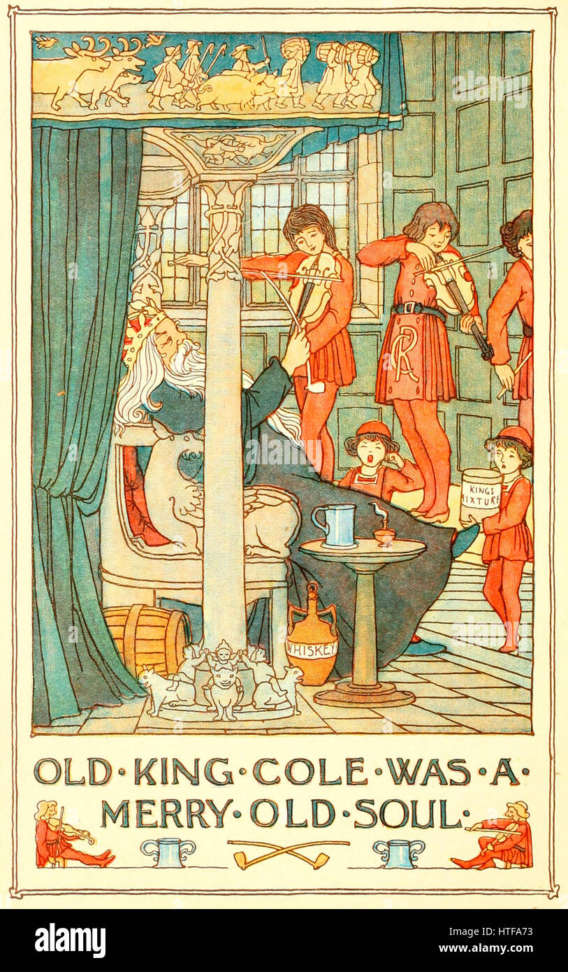 Old King Cole was a Merry Old Soul - Stock Image
