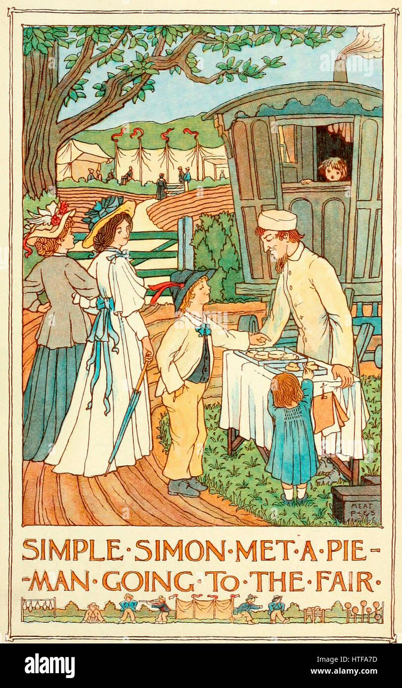 Simple Simon Met a Pie Man Going to the Fair - Stock Image