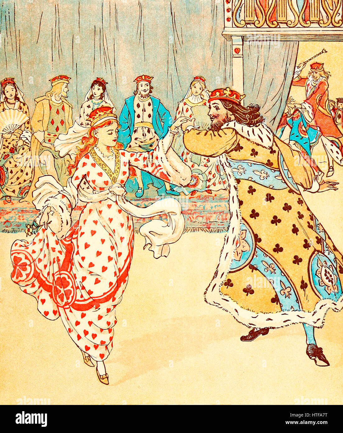 And Beat the Knave Full Sore - The King beats the Knave of Hearts in the Queen of Hearts - Stock Image