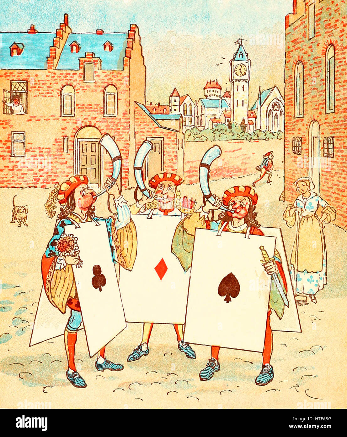 And took them right away - The Knave of Hearts stole the tarts in the Queen of Hearts - Stock Image