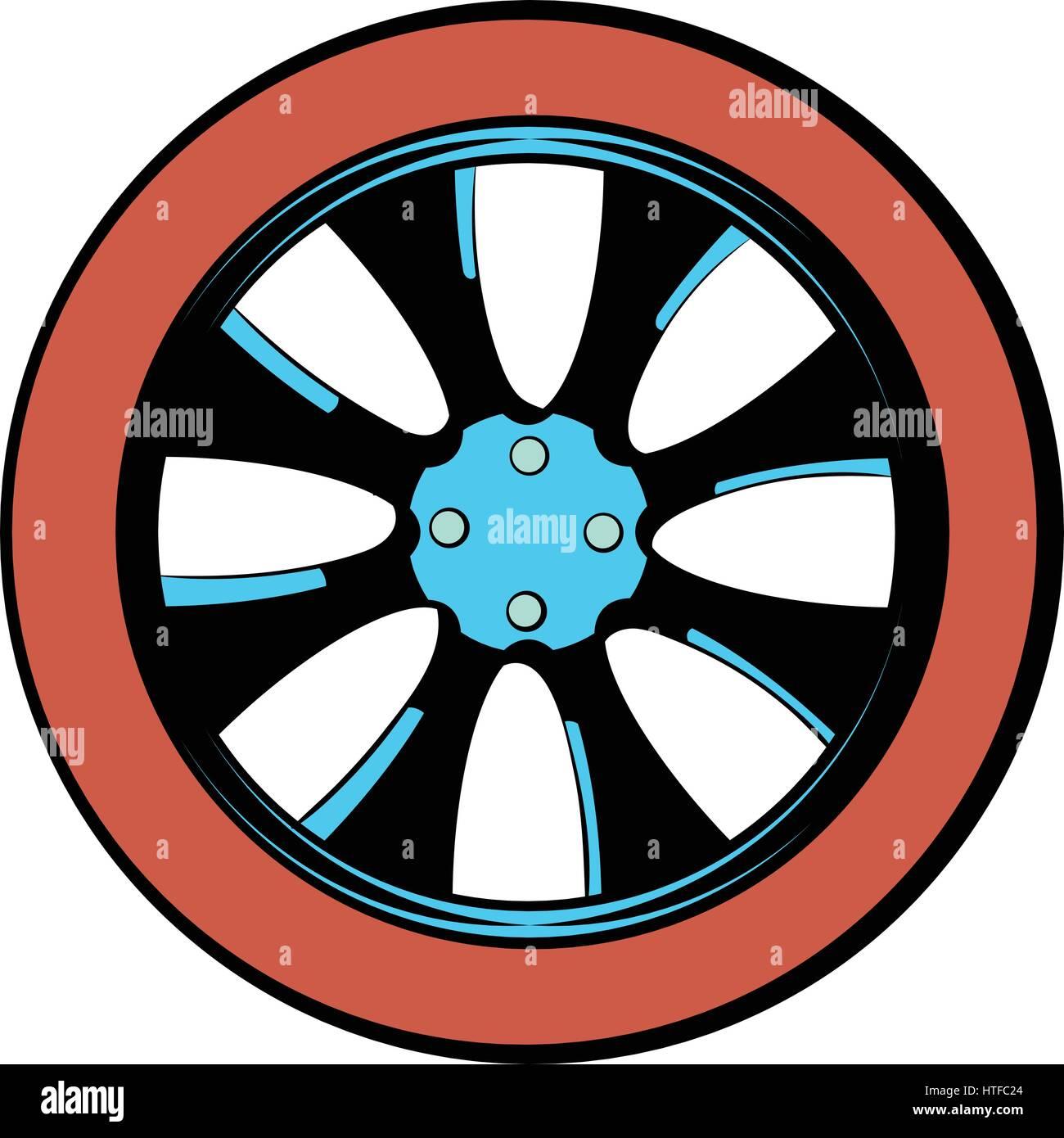 Rotor icon cartoon - Stock Image