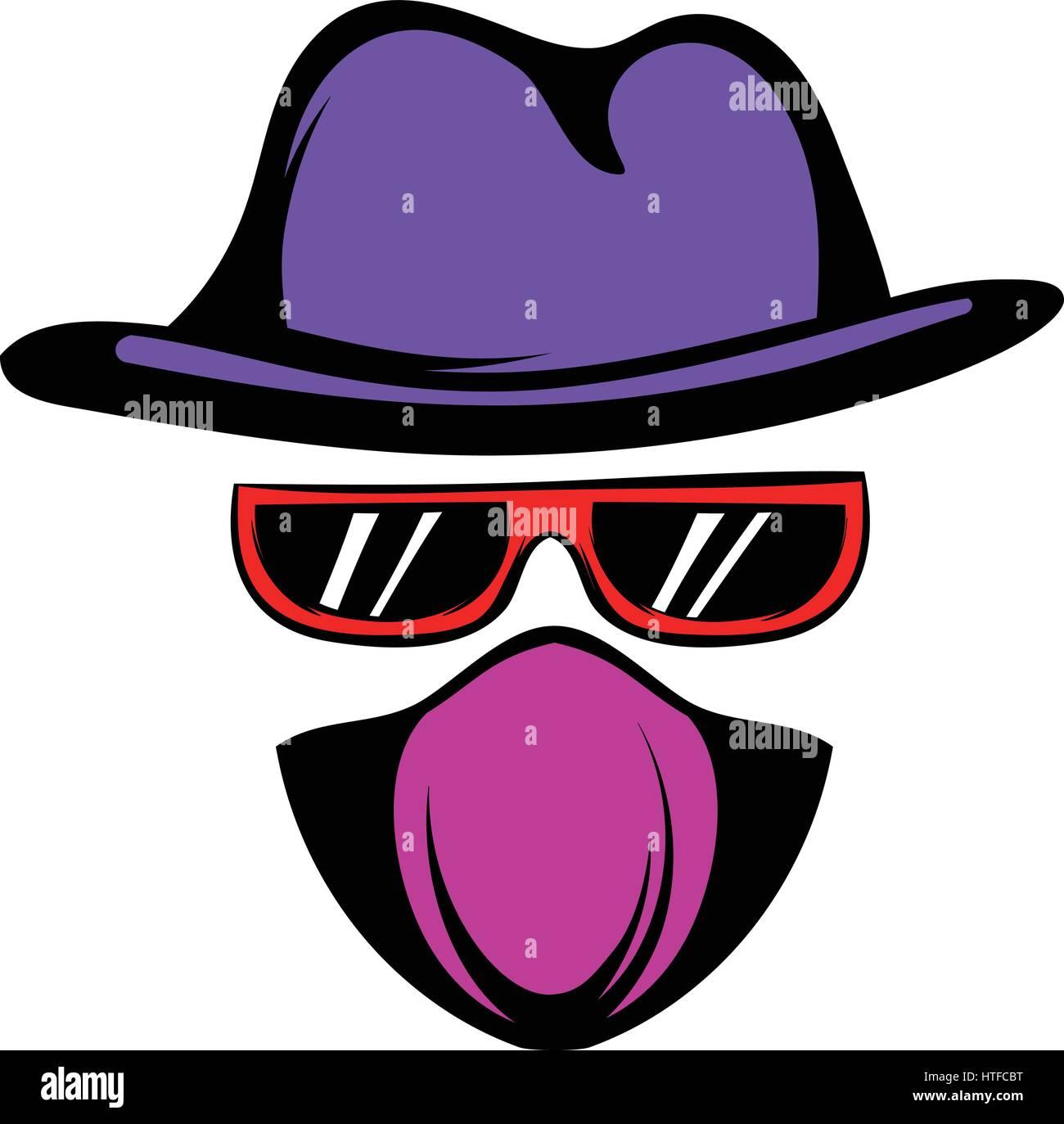 Spy icon cartoon Stock Vector