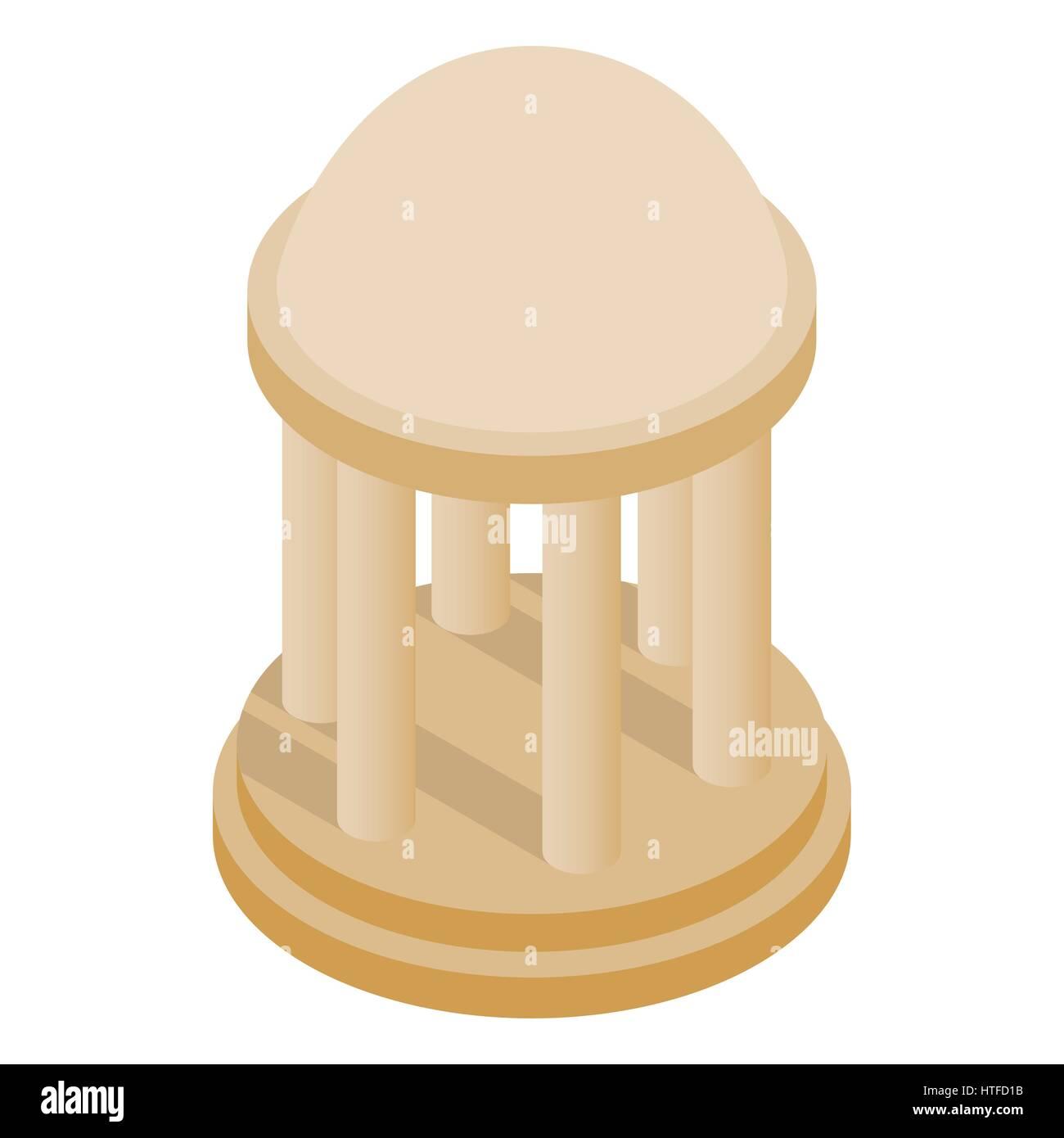 Rotunda icon, isometric 3d style - Stock Vector