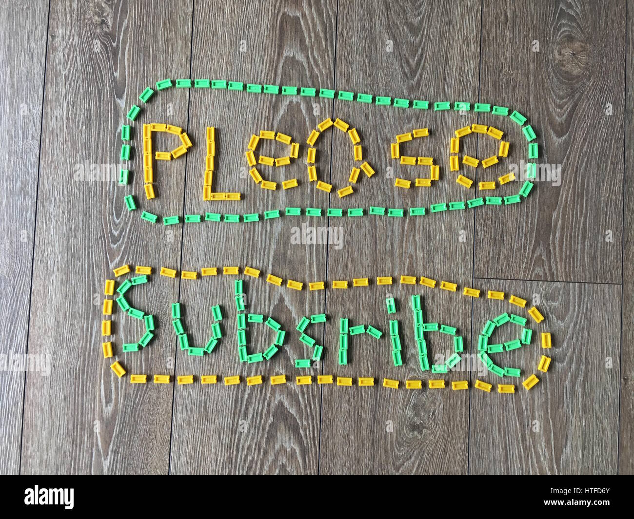 Please Subscribe Caption Stock Photo