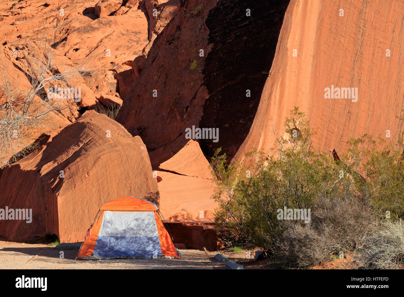 Atlatl Rock Campground Valley Of Fire State Park Overton Nevada Stock Photo Alamy
