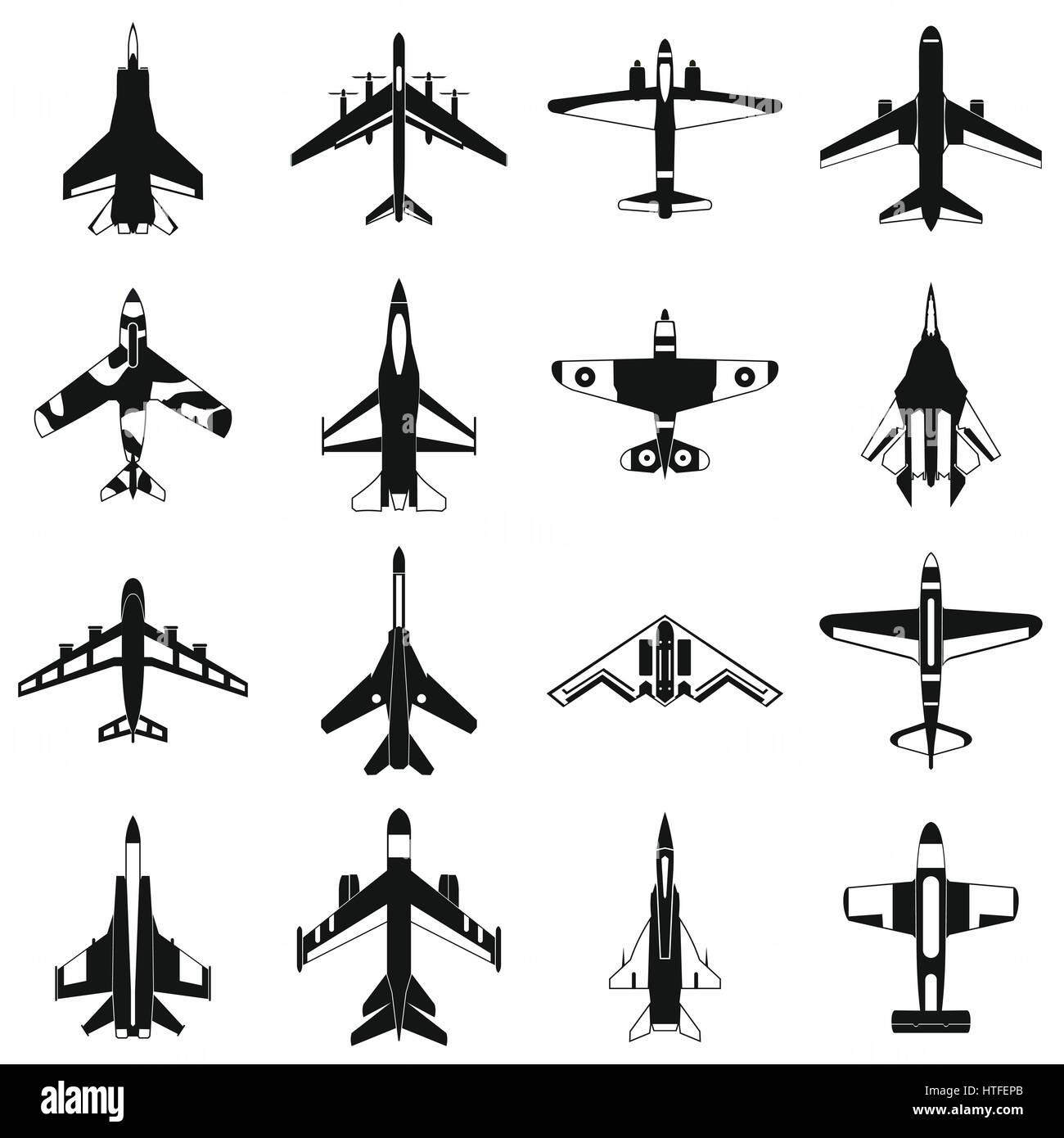 Aviation set icons - Stock Image