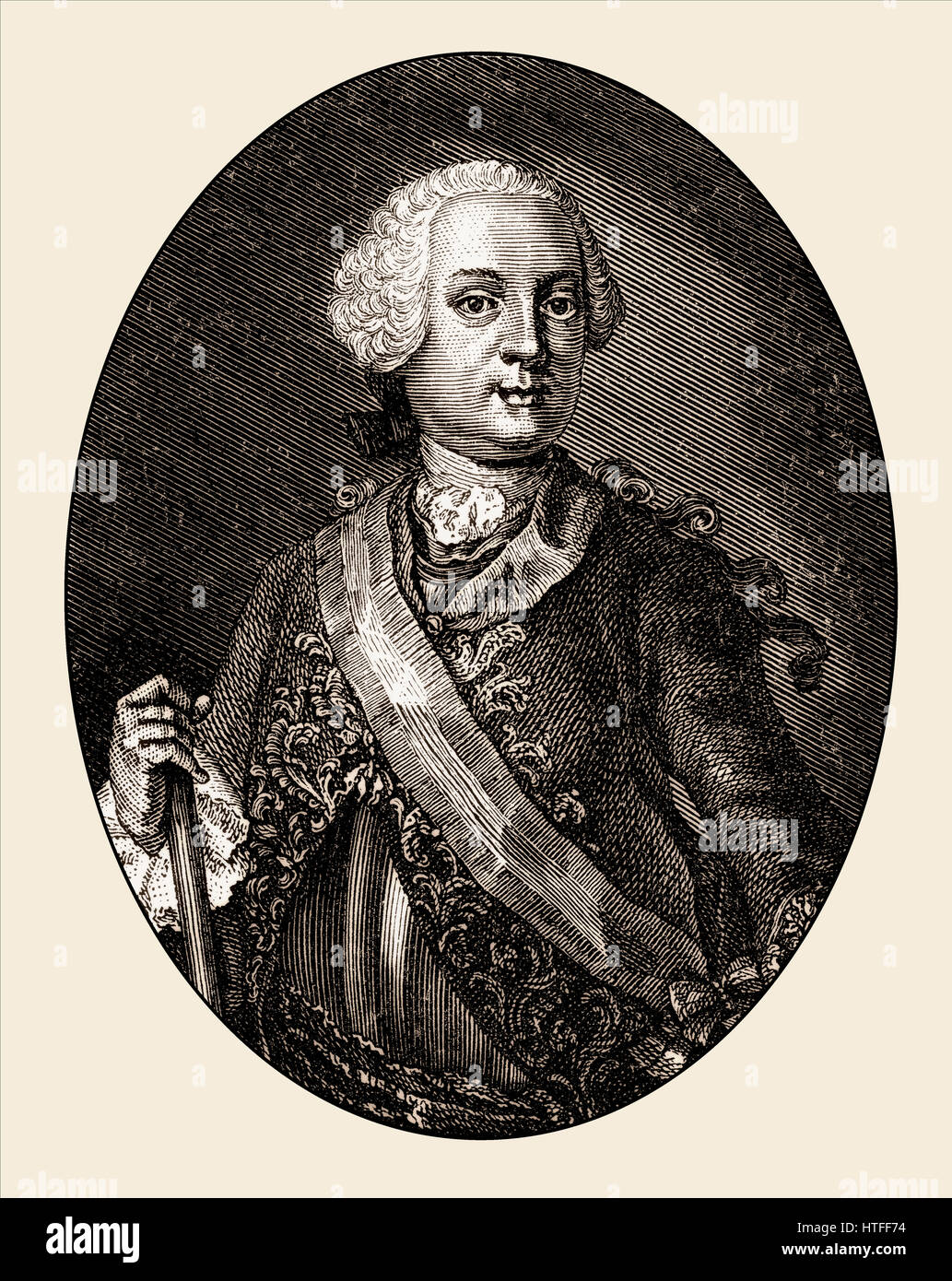 Leopold Joseph Graf von Daun, Prince of Thiano, 1705 - 1766, an imperial Austrian field marshal and commander in - Stock Image