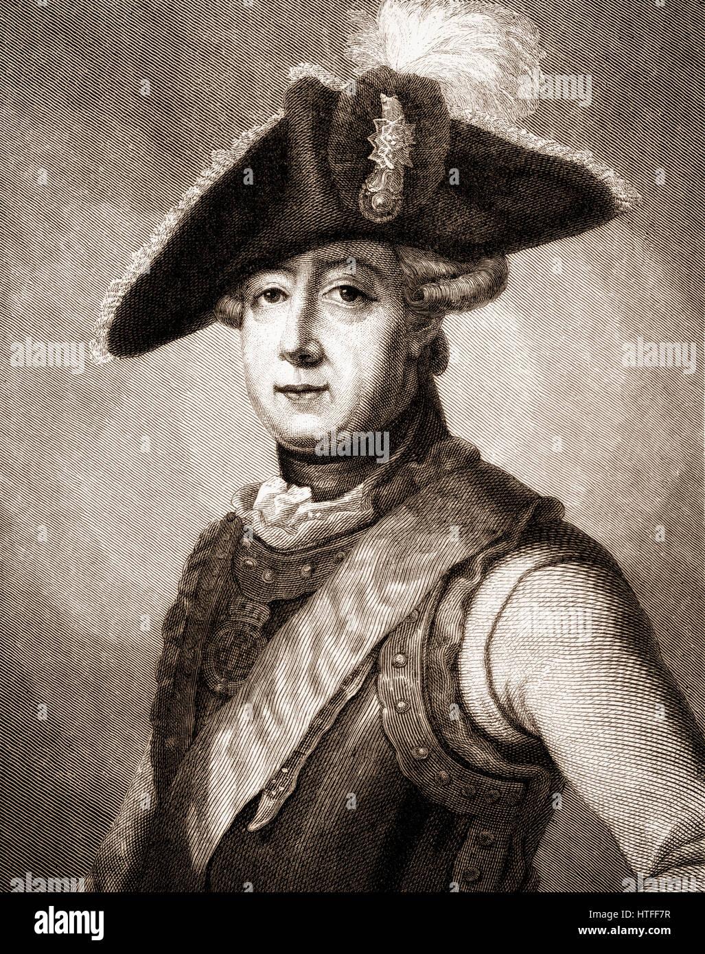 Friedrich Wilhelm Freiherr von Seydlitz, 1721-1773, a Prussian officer, cavalry general Stock Photo