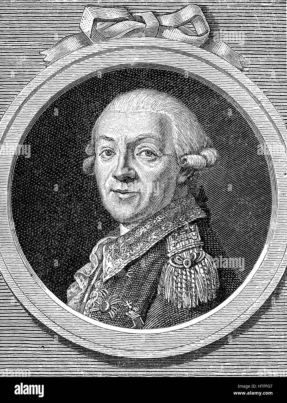 Johann Christoph von Woellner, 1732-1800, a Prussian pastor and politician under King Frederick William II - Stock Image