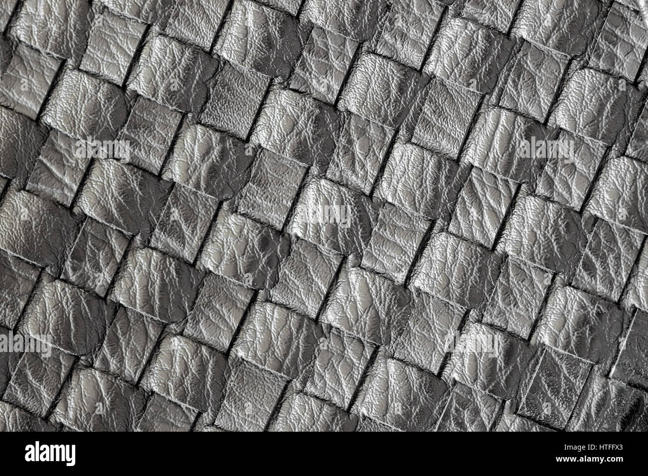 Texture of genuine dark wicker leather close-up. For background, backdrop, substrate, use of composition. Concept - Stock Image