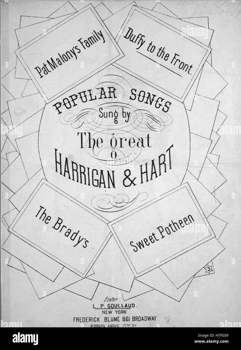 Old Sheet Music Front Cover Stock Photos Back Gt Gallery For Foxtrot Dance Steps Diagram Image Of The Song Popular Songs Sung By Great Harrigan And