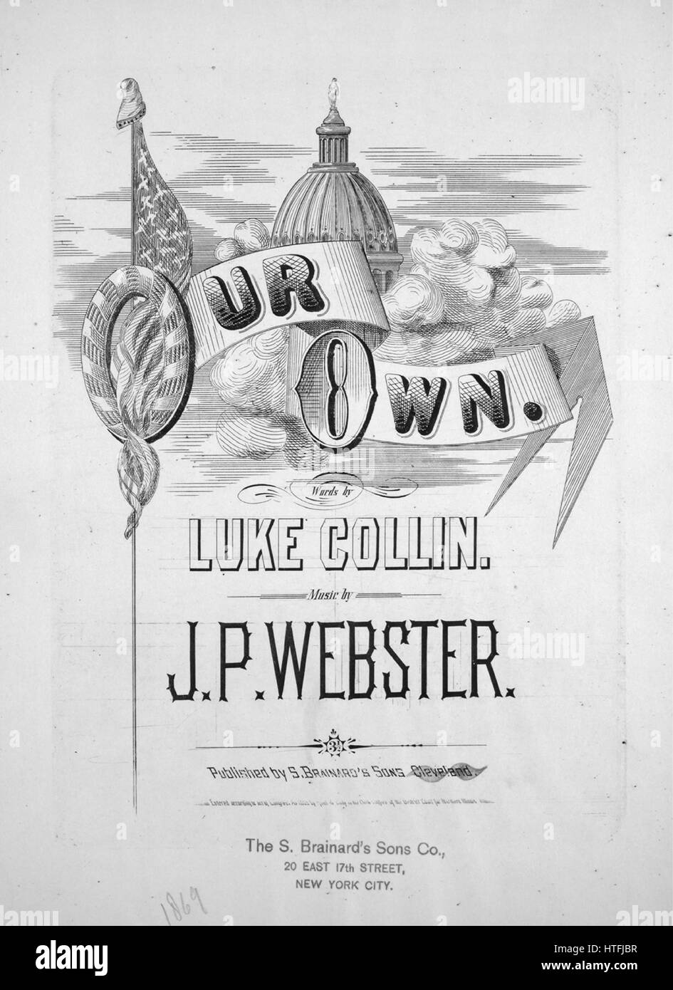 Sheet music cover image of the song 'Our Own', with original authorship notes reading 'Words by Luke - Stock Image