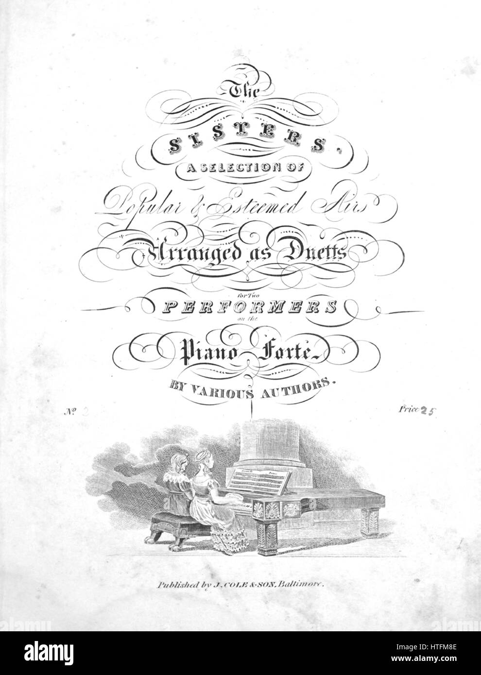 Sheet music cover image of the song 'The Sisters A Selection of Popular and Esteemed Airs Arranged as Duetts - Stock Image