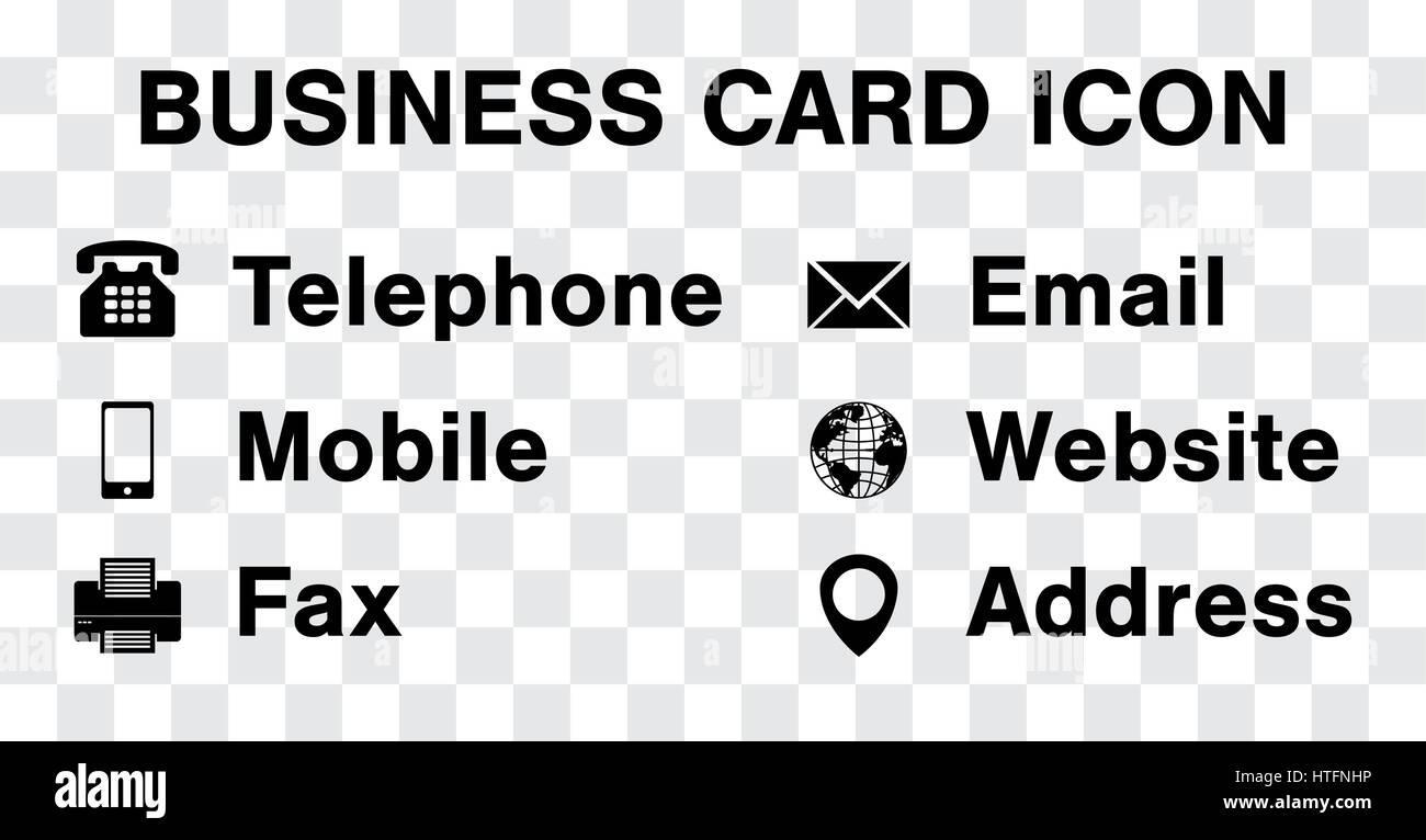 black icon vector set for business namecard Stock Vector Art ...