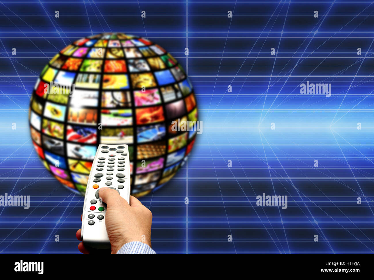 digital television concept - Stock Image