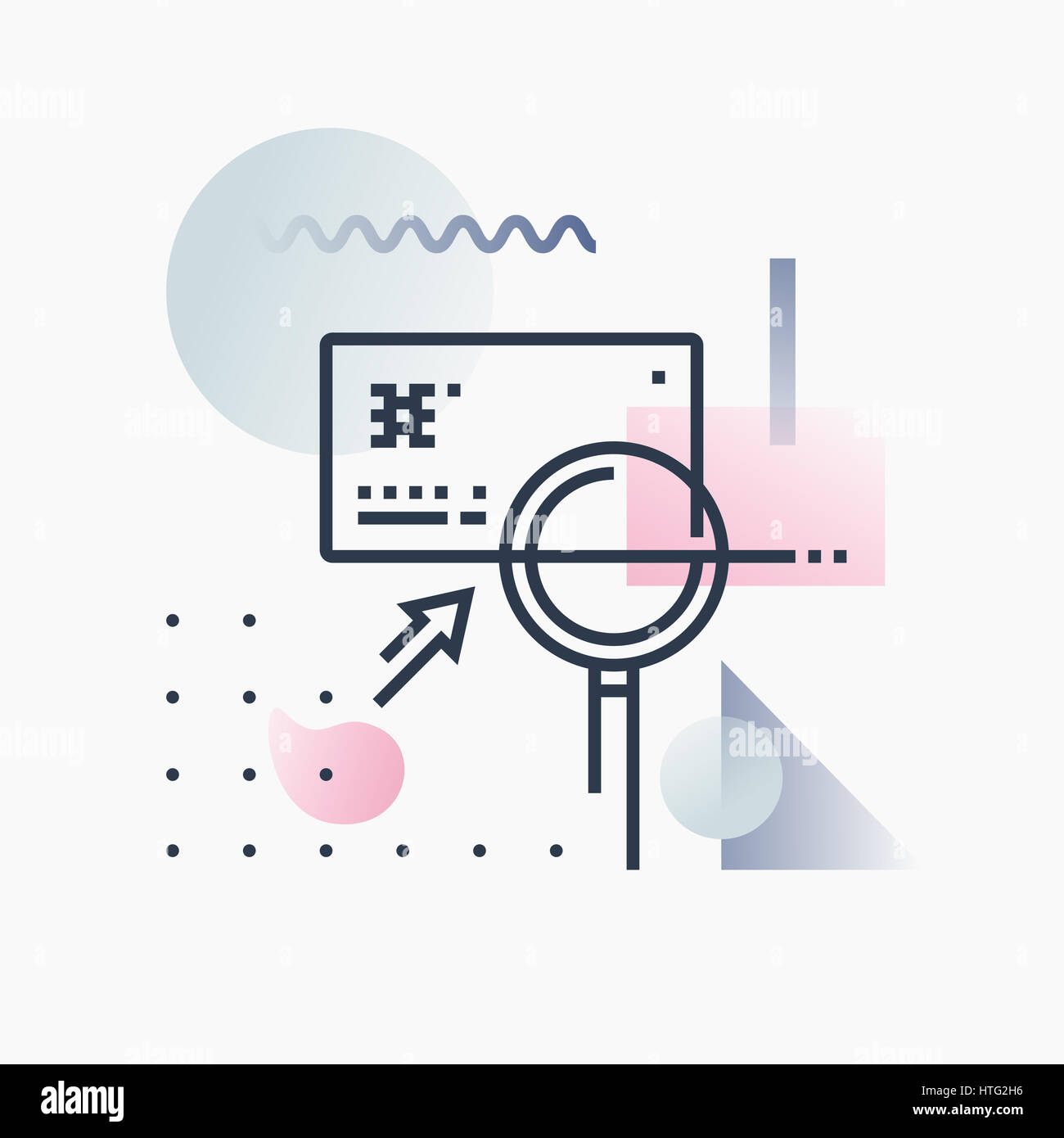 Credit card fraud detection, banking card analysis. Abstract illustration concept. - Stock Image