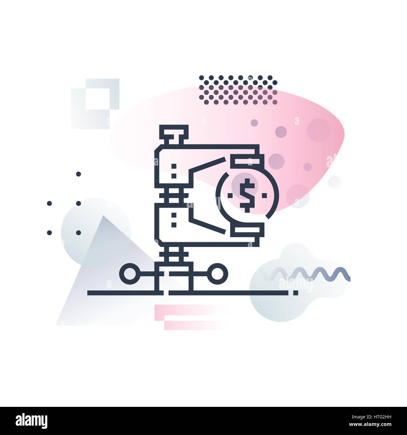 Tax regulation service, monetary legislation pressure. Abstract illustration concept. - Stock Image