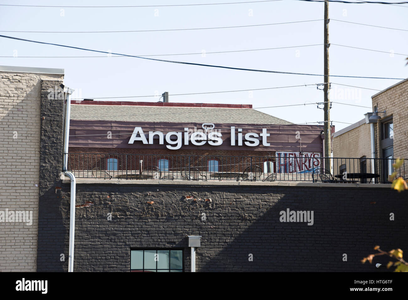 Indianapolis - Circa October 2015: Angie's List Corporate Office and Headquarters II - Stock Image