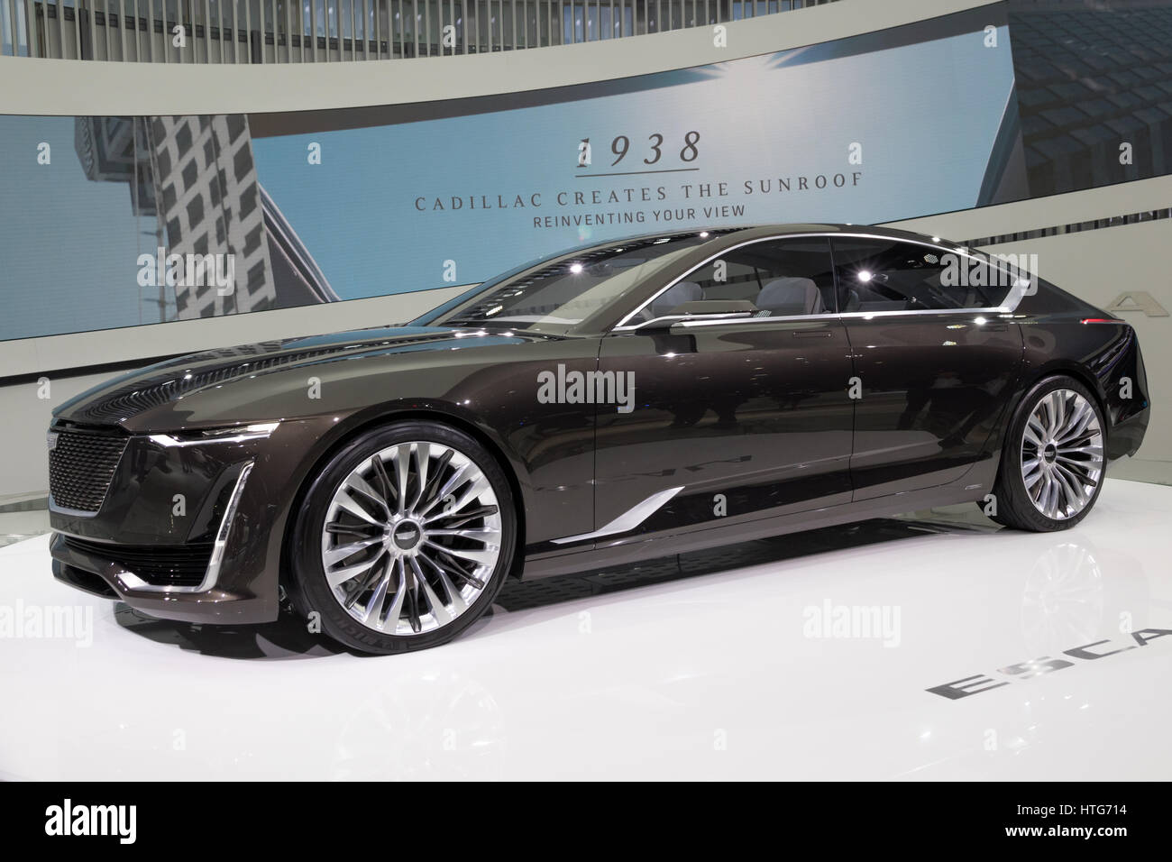 GENEVA, SWITZERLAND - MARCH 7, 2017: New Cadillac Escala Concept car presented at the 87th Geneva International - Stock Image