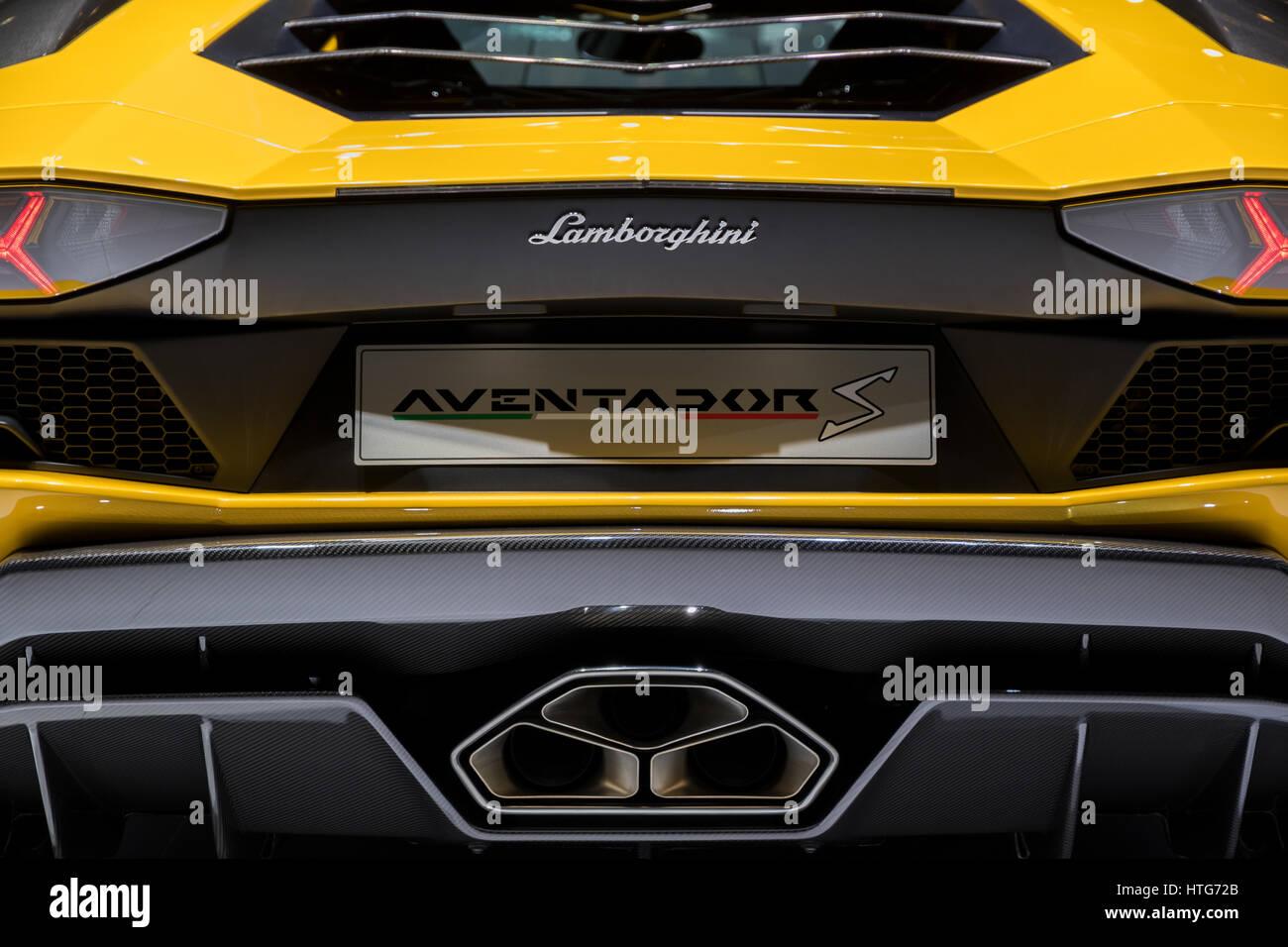 Lamborghini Rear View Stock Photos Lamborghini Rear View Stock