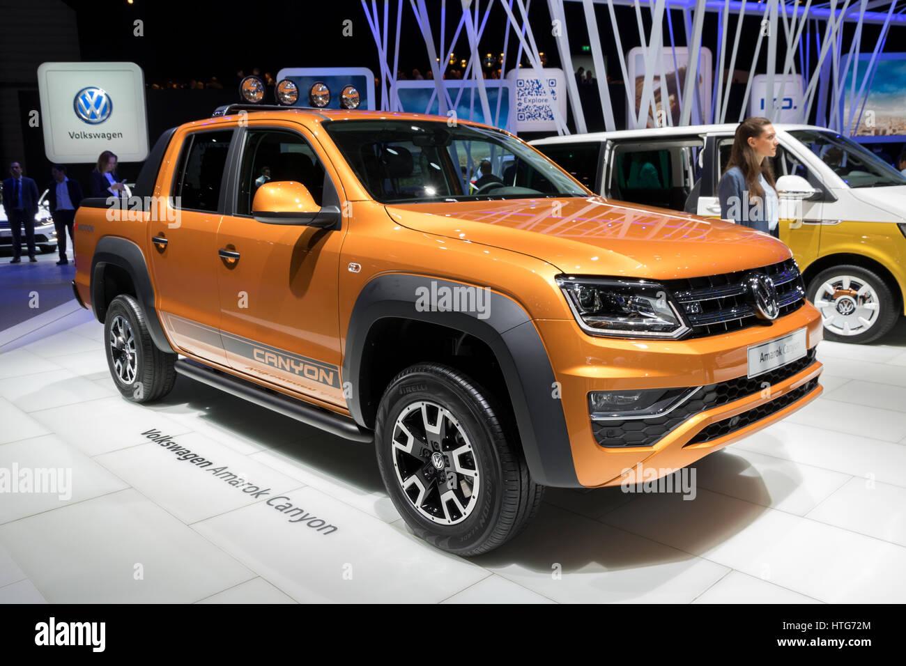 GENEVA, SWITZERLAND - MARCH 7, 2017: Volkswagen Amarok