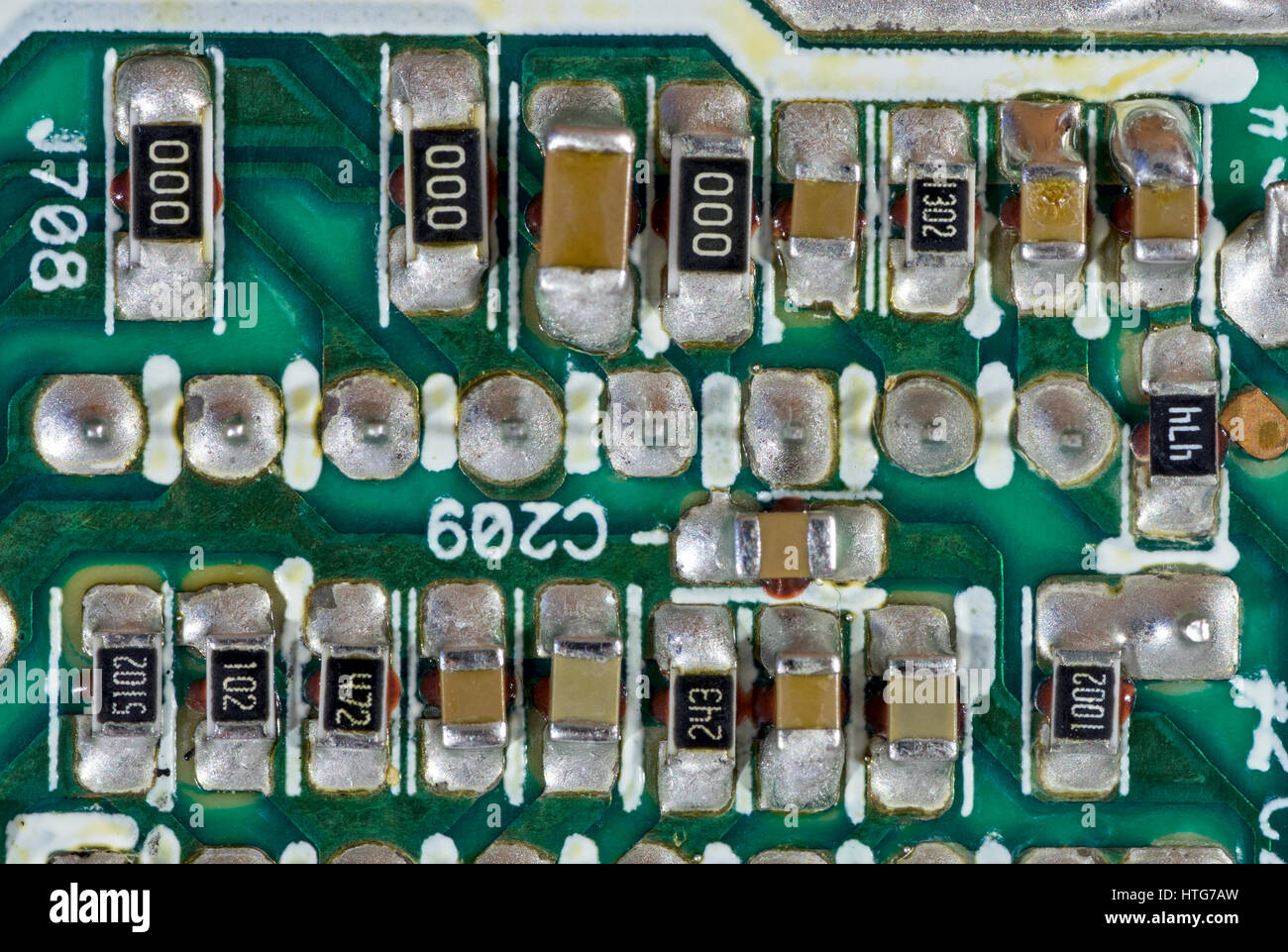 Surface Mount Resistor Stock Photos Circuit Board Resistors Components On Printed Image