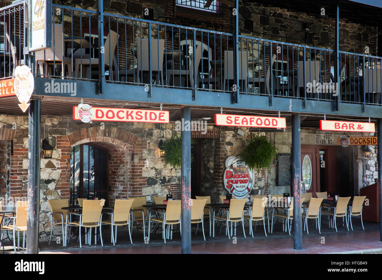 Restaurant In The Riverfront Historic District Of Savannah
