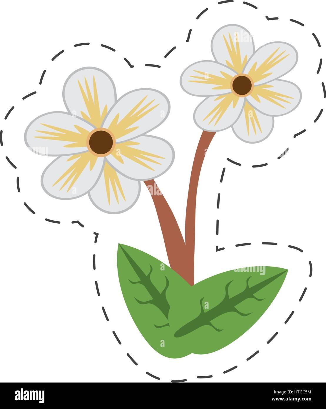 Jasmine Flower Garden Stock Vector Images Alamy