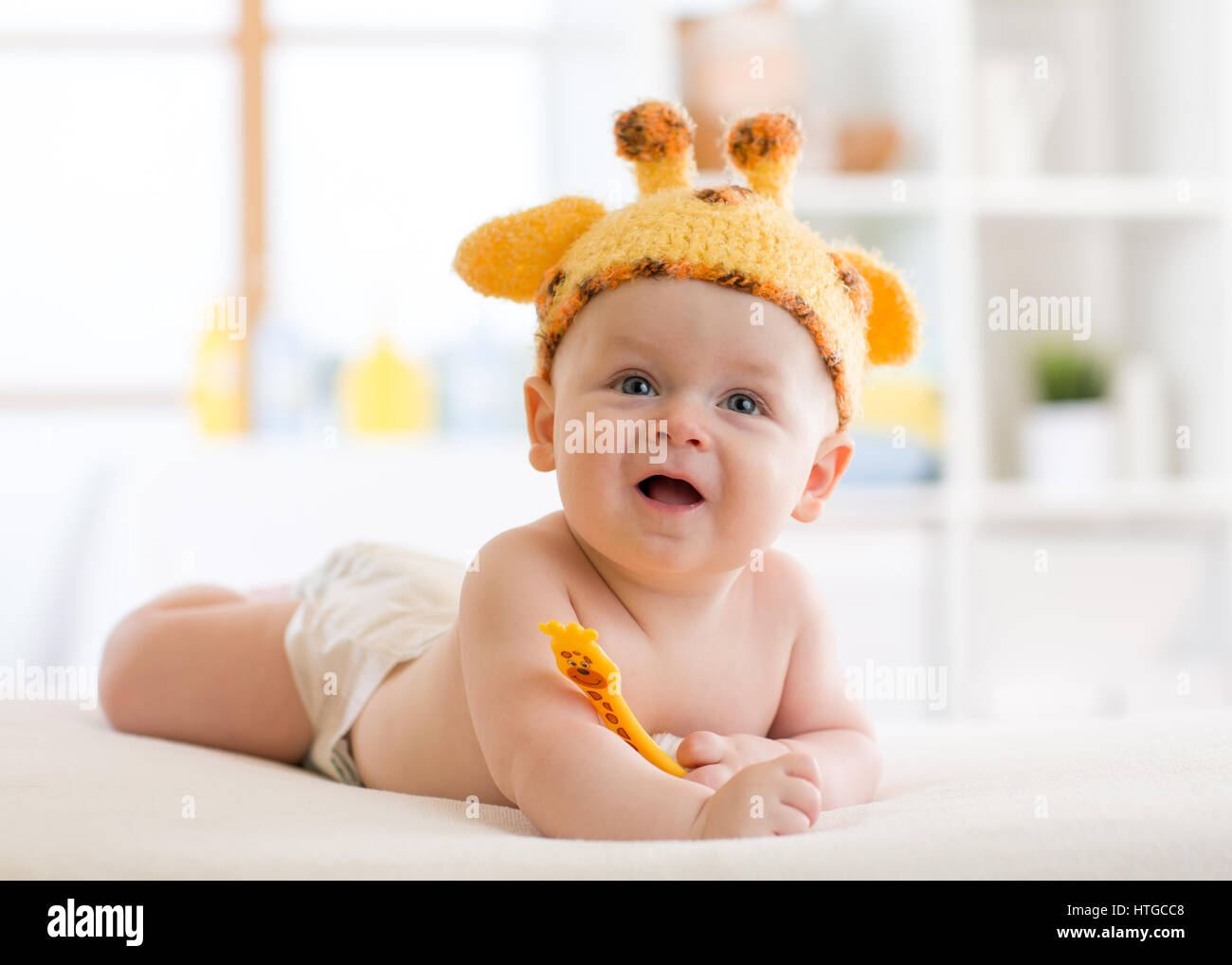 happy infant baby child in giraffe costume  sc 1 st  Alamy & happy infant baby child in giraffe costume Stock Photo: 135585304 ...