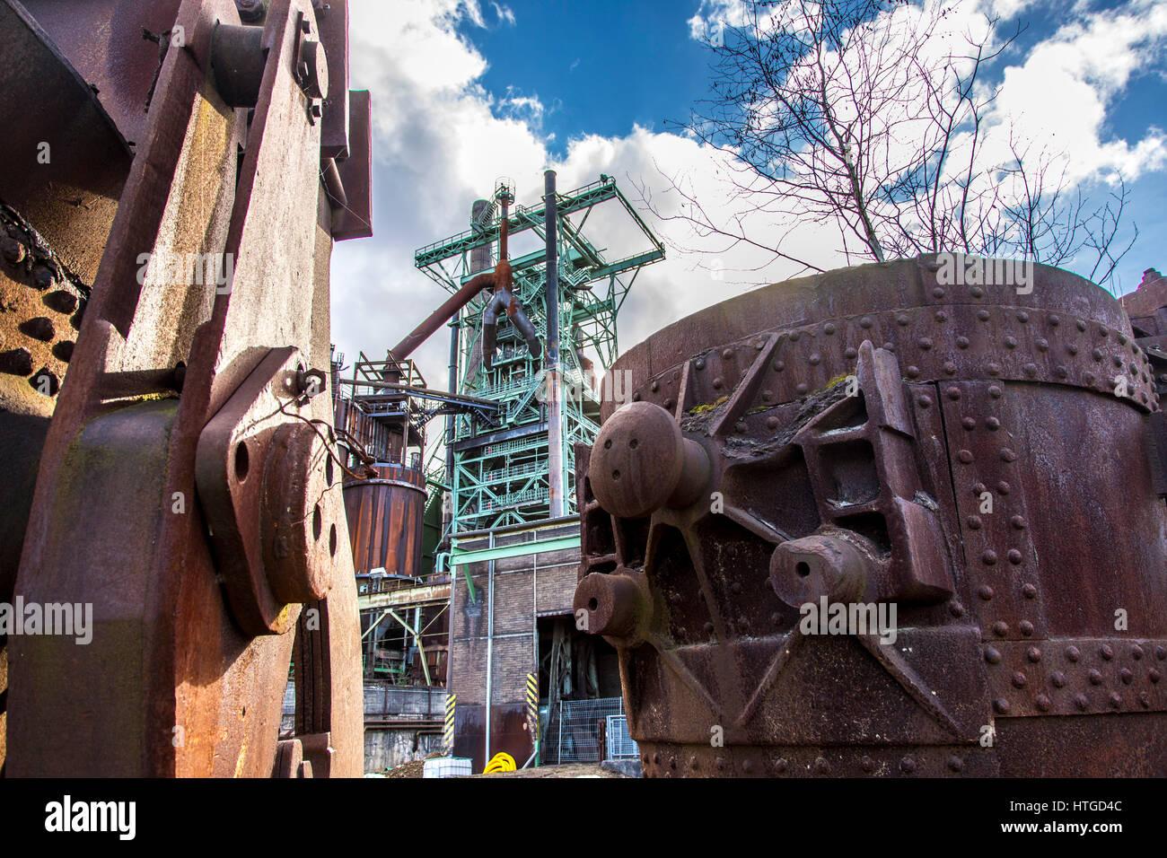 Henrichshütte, former steelworks, industrial museum, Hattingen, Germany, - Stock Image