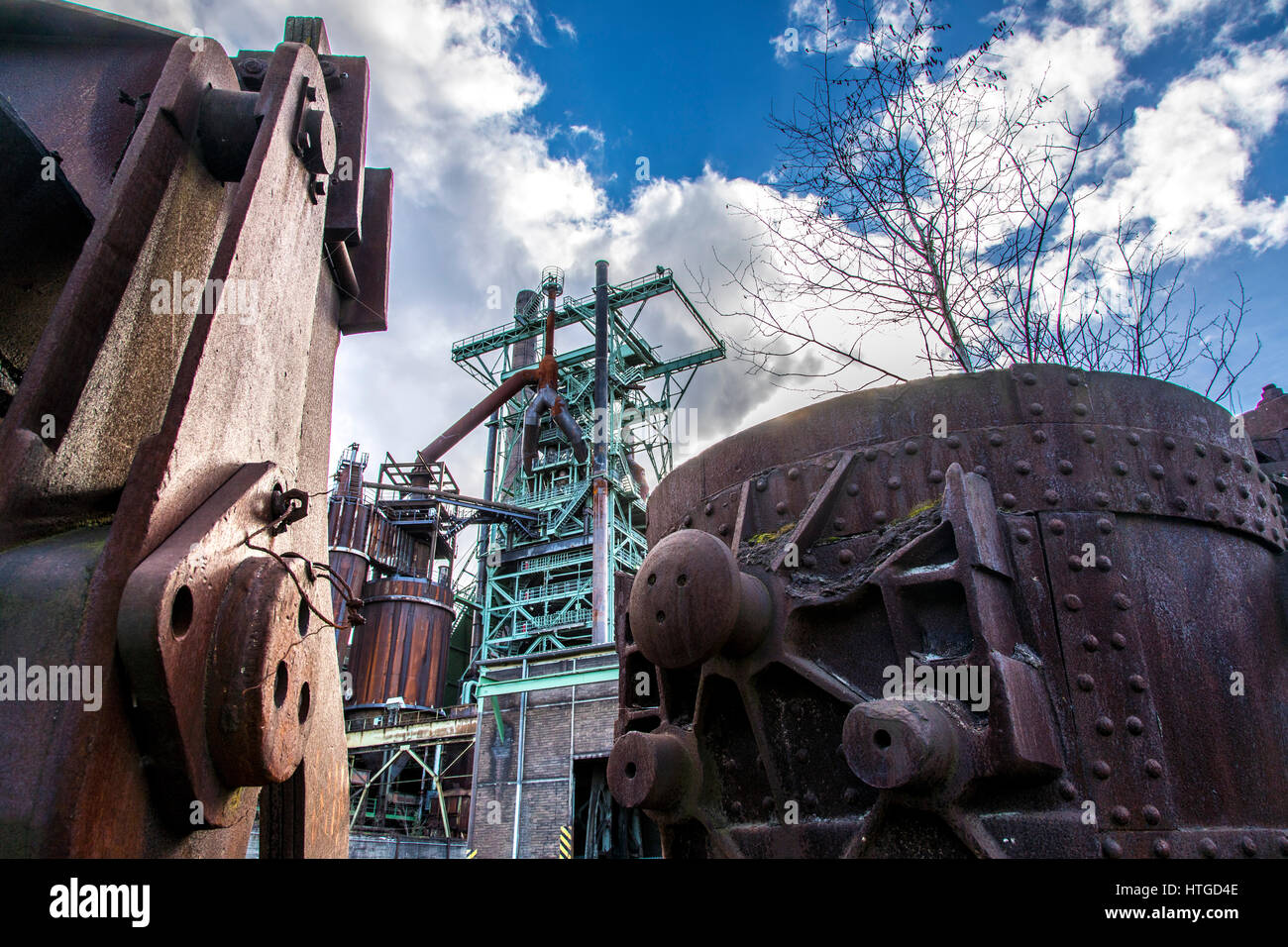 Henrichshütte, former steelworks, industrial museum, Hattingen, Germany, Stock Photo