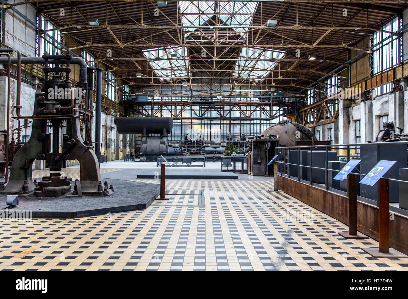 Henrichshütte, former steelworks, industrial museum, Hattingen, Germany, gas turbines, - Stock Image