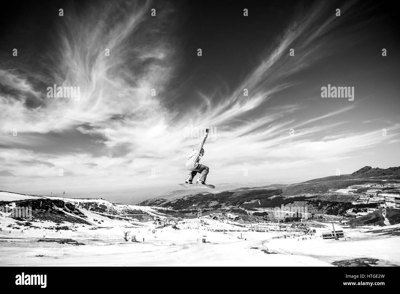 Sierra Nevada, Spain. 11th Mar, 2017. Seppe Smits (Belgium) during the final of Men's Slopestyle of FIS World - Stock Image