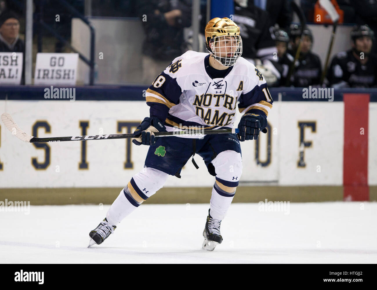 South Bend, Indiana, USA. 11th Mar, 2017. Notre Dame forward