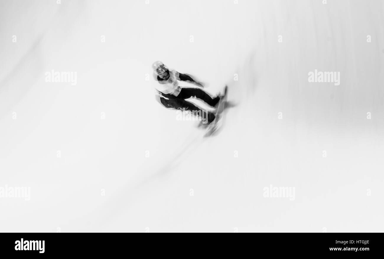 Sierra Nevada, Spain. 11th March, 2017. David Habluetzel (Switzerland) during the final of Men's Halfpipe of - Stock Image
