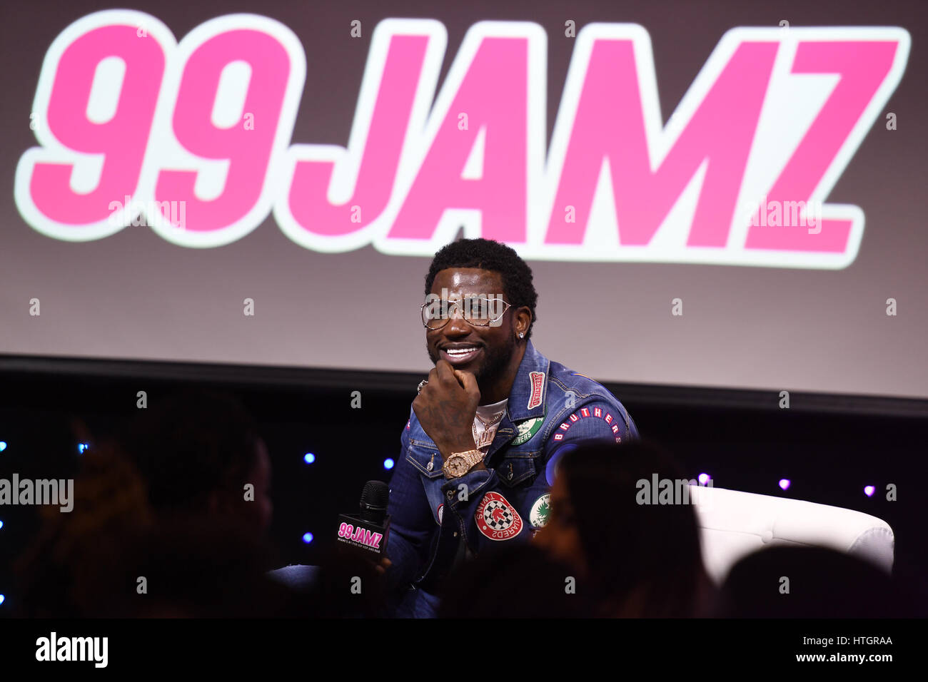 Hollywood FL USA 14th Mar 2017 Gucci Mane Visis Radio Station 99JAMZ On