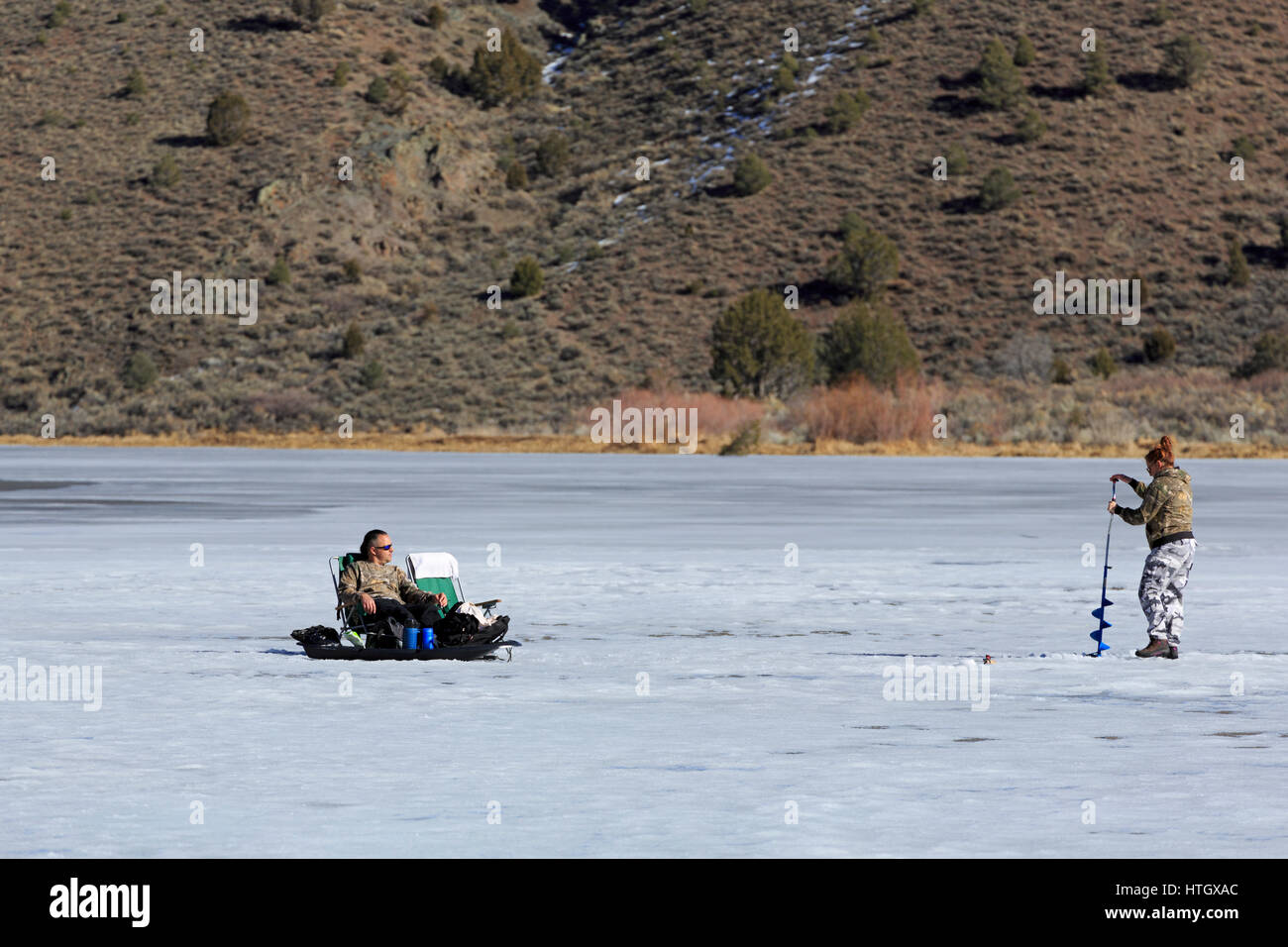 Eagle Valley Resevoir, Spring Valley State Park, Pioche, Nevada, USA - Stock Image