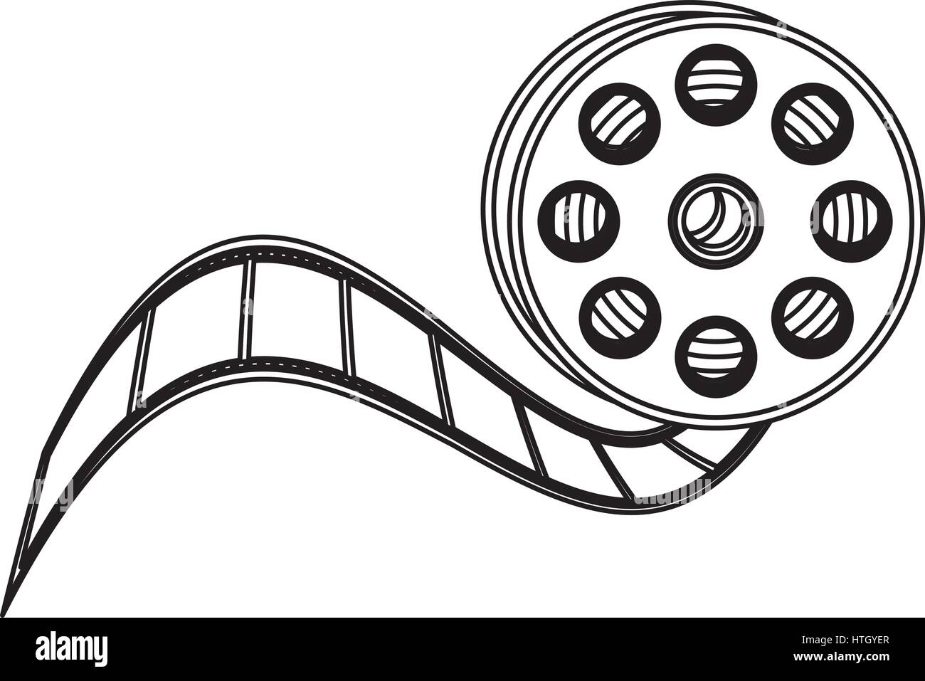 movie film clipart icon stock vector art illustration vector rh alamy com movie film strip clipart movie film roll clip art