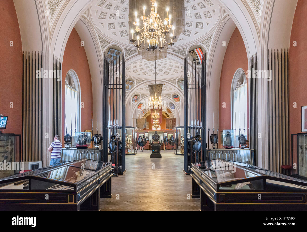 Gallery in the Museum of Military History ( Heeresgeschichtliches Museum ), Vienna, Austria - Stock Image
