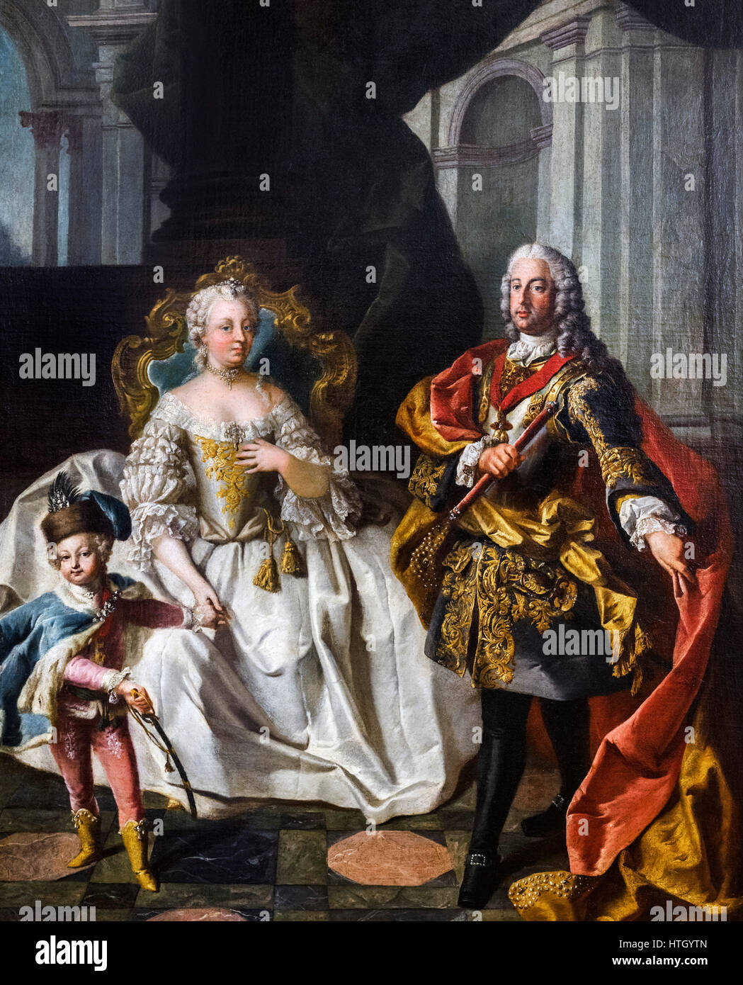 The Empress Maria Theresa (Maria Theresa Walburga Amalia Christina - 1717-1780) with her husband, Franz Stephan, - Stock Image