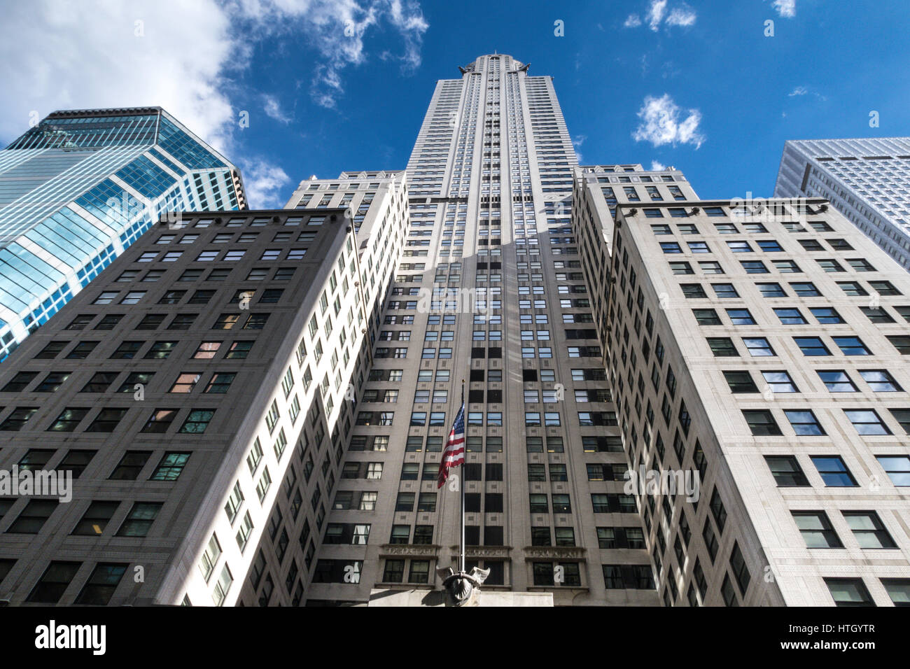 Looking up at the Iconic Chrysler Building, Midtown Manhattan, NYC, USA - Stock Image