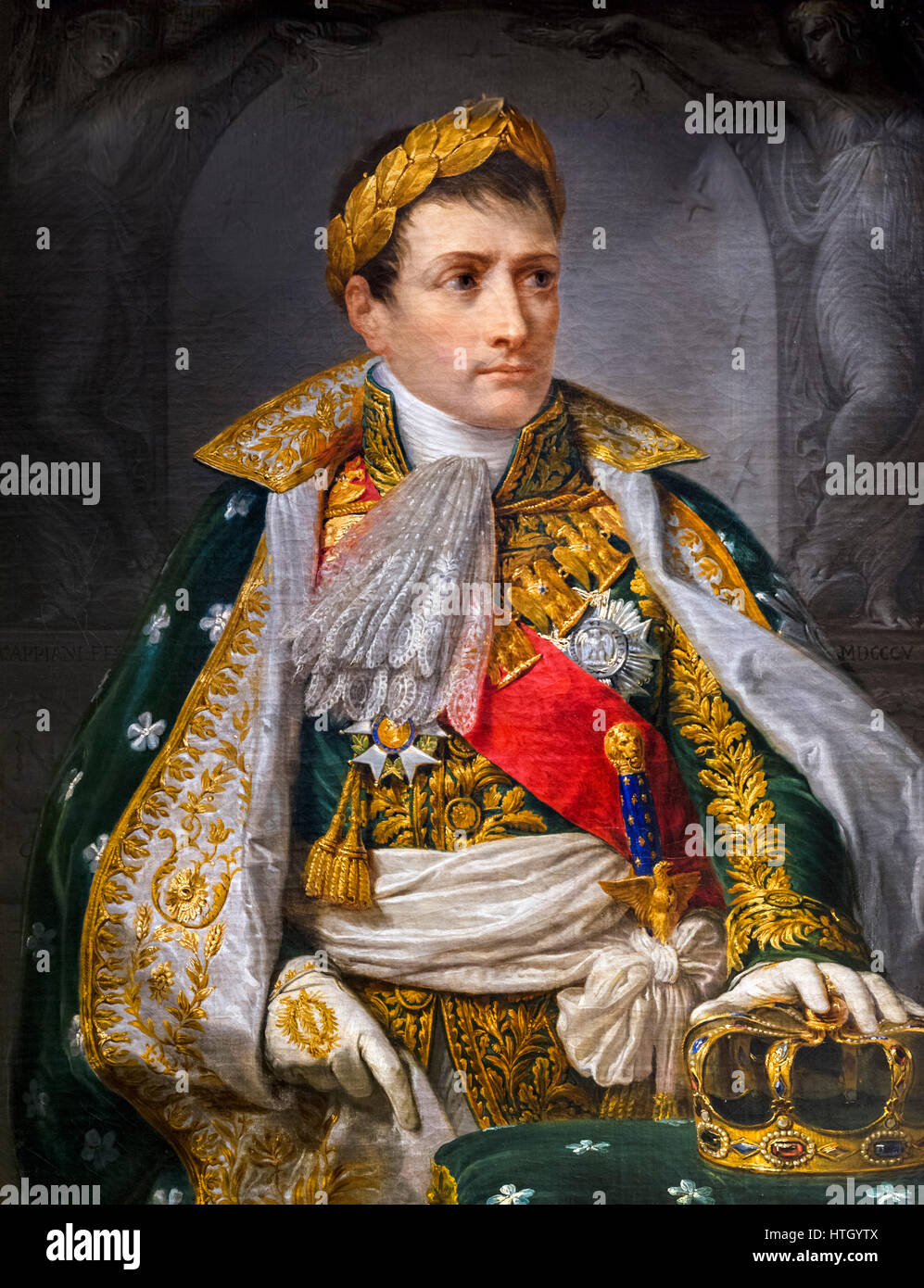 Napoleon Bonaparte as King of Italy by Andrea Appiani, oil on canvas, 1805 - Stock Image