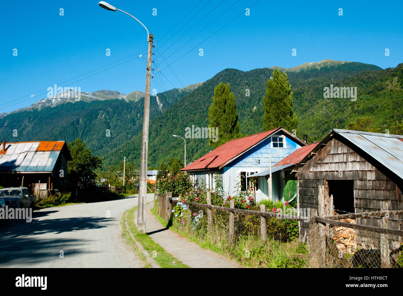Puyuhuapi Town - Chile - Stock Image