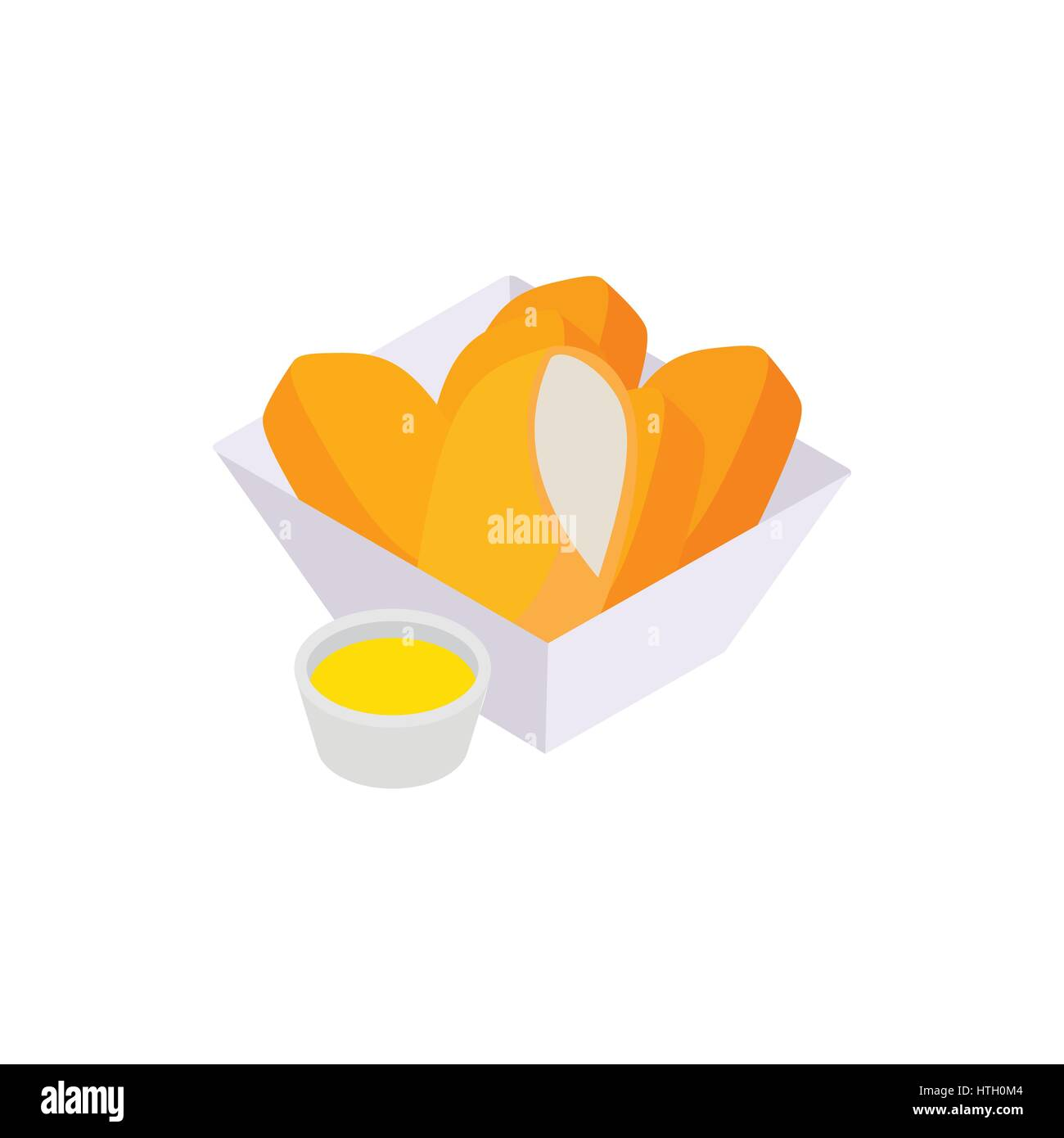 Chicken nuggets icon, isometric 3d style - Stock Vector