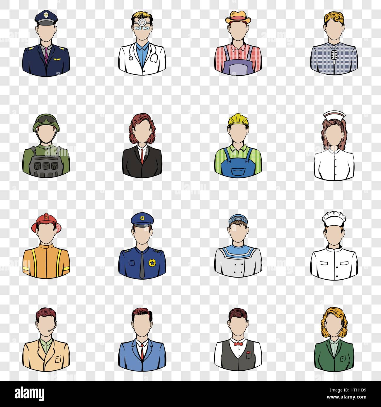 Profession set icons - Stock Vector