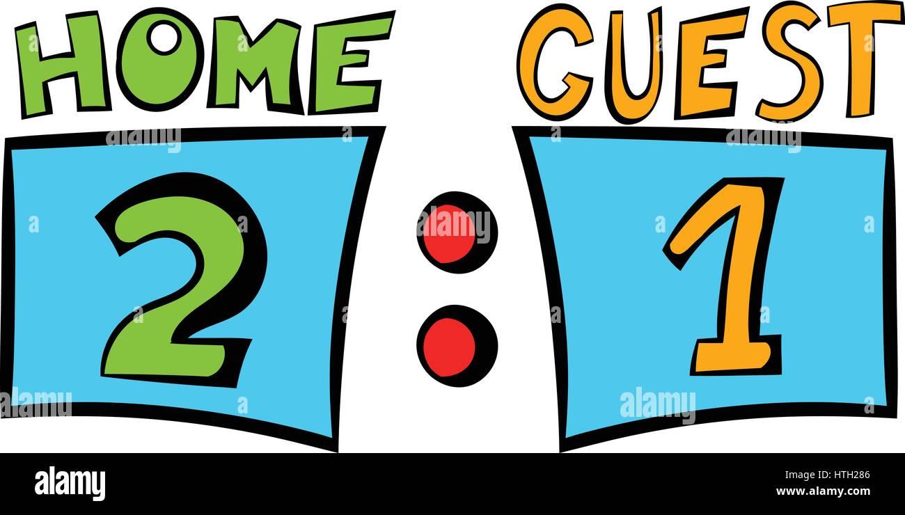 scoreboard icon icon cartoon stock vector art illustration rh alamy com baseball scoreboard clip art scoreboard clip art free