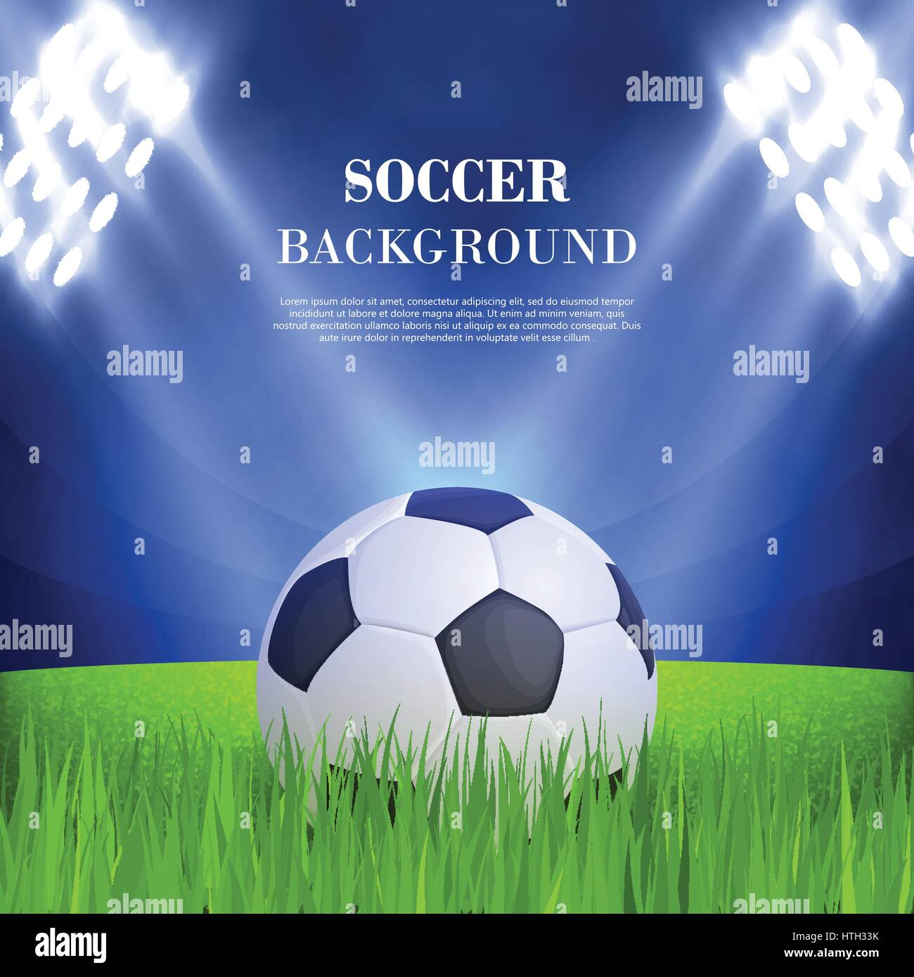 Soccer background concept - Stock Vector